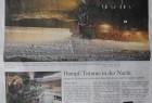 """In der Wochenendausgabe der Braunschweiger Zeitung vom 4. Dezember 2010 rollen die """"NachtZüge"""" über eine Seite der Beilage. Am 8. Dezember 2010 ziert das Lichtermeer am Brocken die Titelseite:"""