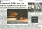 """""""Emotionale Bilder von der Schmalspurbahn des Harzes"""": In ihrer Ausgabe vom 10. Dezember 2010 berichtet die Mitteldeutsche Zeitung über den neuen Bildband der Verlagsgruppe Bahn."""