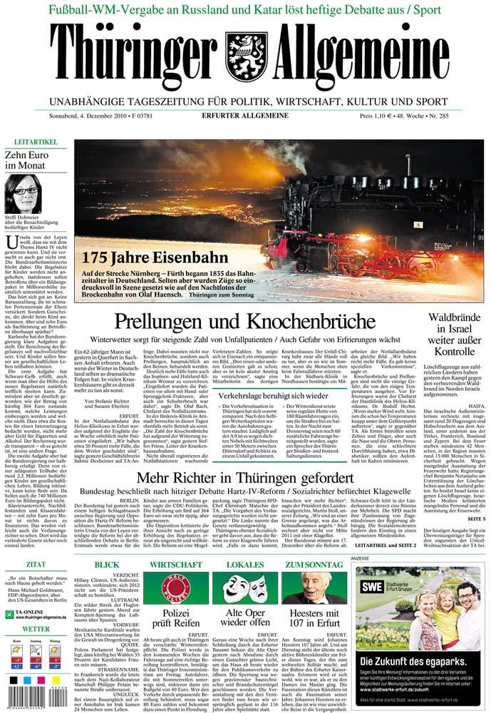 Thüringer Allgemeine - Startseite