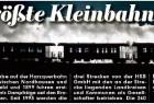 """Die """"BILD Halle"""" vom 31. Januar 2012 mit einem Beitrag zum Jubiläum """"125 Jahre Schmalspurbahnen im Harz"""":"""