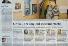"""Beitrag der Volkstimme vom 26. März 2012 zur Eröffnung des """"Museums Schiefes Haus"""" in Wernigerode mit der Fotoausstellung """"NachtZüge"""" von Olaf Haensch."""